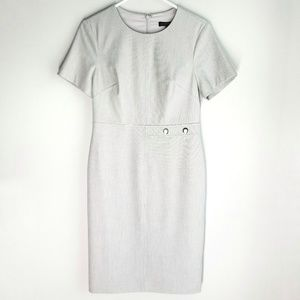 Banana Republic Gray Midi Dress Career 8 petite
